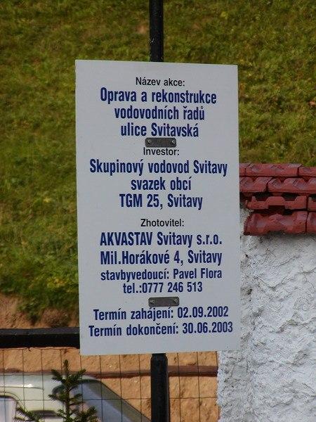 Vodovody - ul. Svitavská, Svitavy