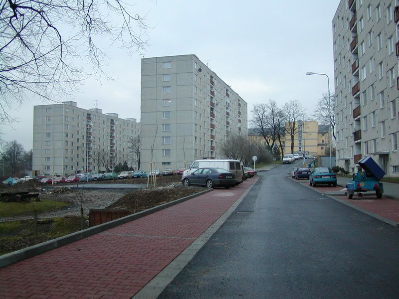 Komunikace - živičné - ulice Feberova, Svitavy